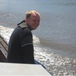 Projektleiter Martin Hofele genießt die Fahrt